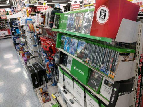 PS3とXbox360が売り場面積を二分してた頃もありました。