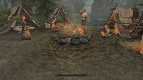 火を囲む鉱山労働者達。このなかに仲間候補のアネックさんがいます!