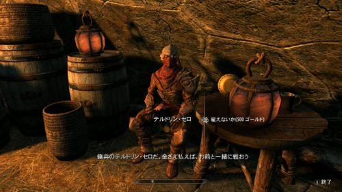 500円で雇える最強の魔法剣士。もしかしてネレヴァリン?とにかく強い。