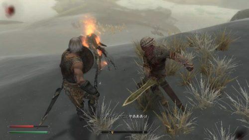 左手に炎のスペル、右手に剣!セロさんカッコいい