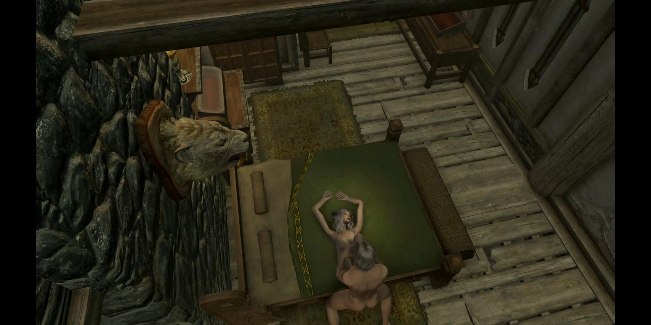 スカイリムFGバニラ婚自宅で睡眠